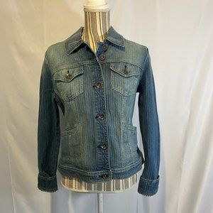 International Concepts Blue Denim Jacket SZ M